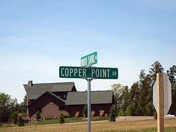 Copper Point road signs