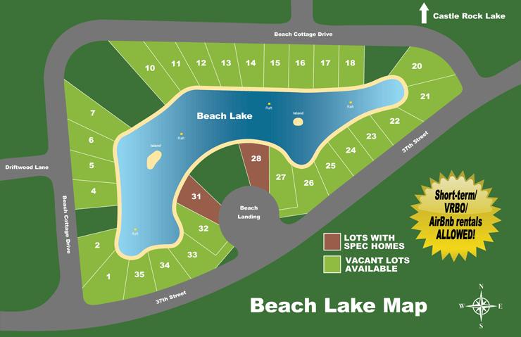 beach lake map