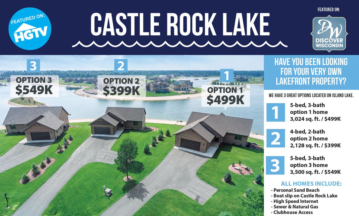 CASTLE ROCK LAKE   LAKE LOTS   WISCONSIN LAKE LOTS   LAKEFRONT ...